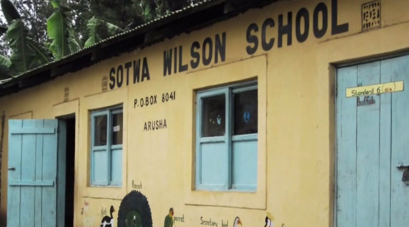 An image of the front of Sotwa Wilson School in Arusha.