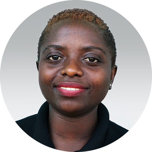 Mary Modest, a team member for Opportunity Education Tanzania