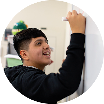 Quest Forward Learning's curriculum is skills-forward, much more than academics — students learn how to learn and work successfully.