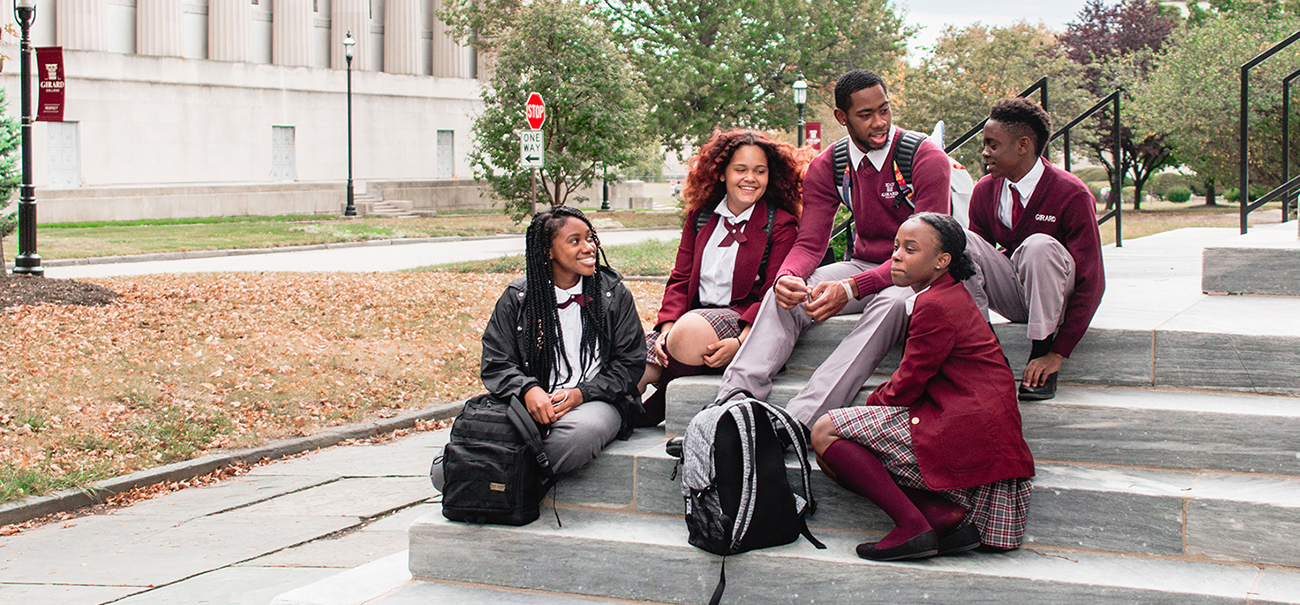 Students at Girard College High School