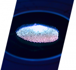 A dramatic image of a fingerprint represents the Summer Explorations course about solving mysteries.