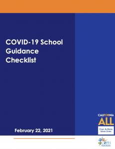 The cover of Quest Forward Academy Santa Rosa's COVID-19 School Guidance Checklist.