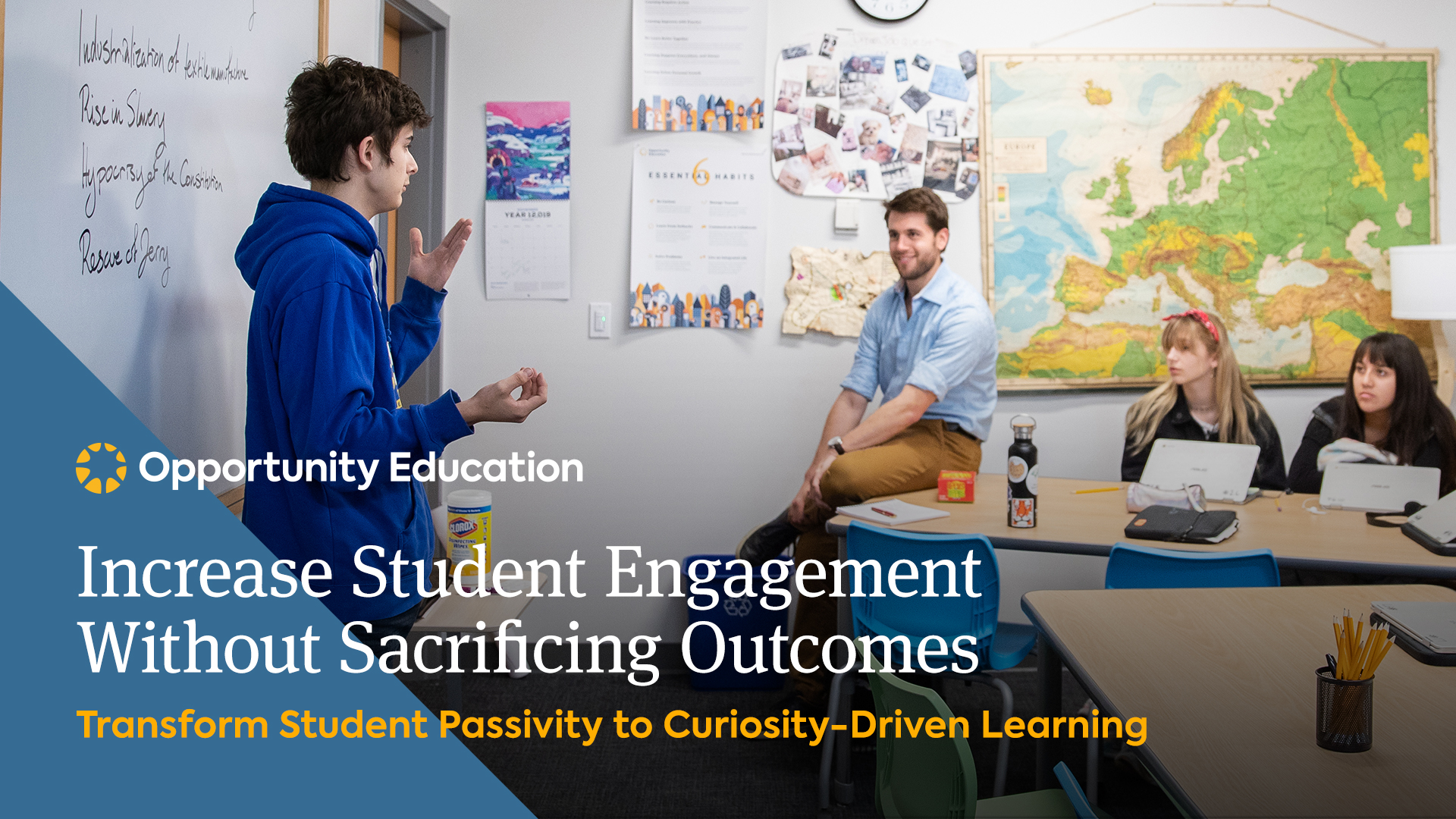 Join Opportunity Education to learn how to increase student engagement at your high school.